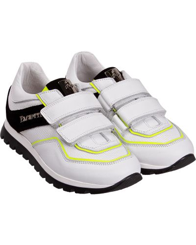 Кожаные белые кроссовки Cesare Paciotti