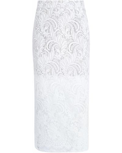 Шелковая юбка миди - белая Stella Mccartney