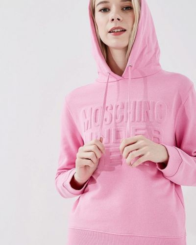 Розовое худи Moschino