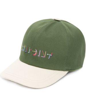 Zielona czapka bawełniana z printem Bonpoint