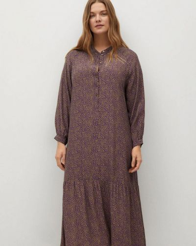 Повседневное фиолетовое платье Violeta By Mango