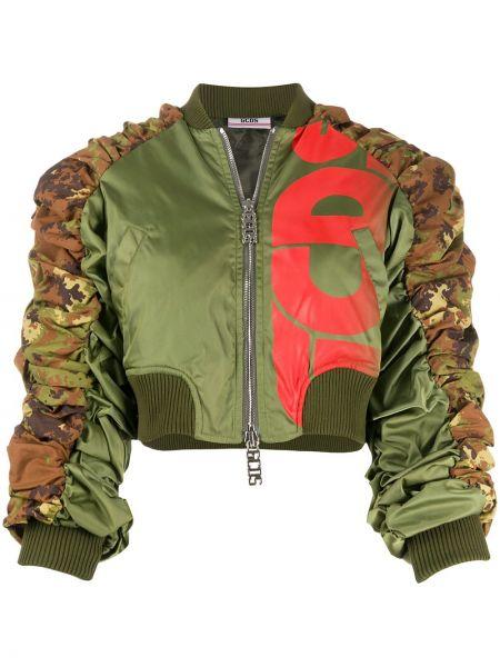 Армейская ватная коричневая длинная куртка Gcds