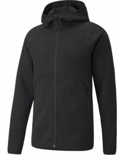 Спортивная кожаная куртка - черная Puma