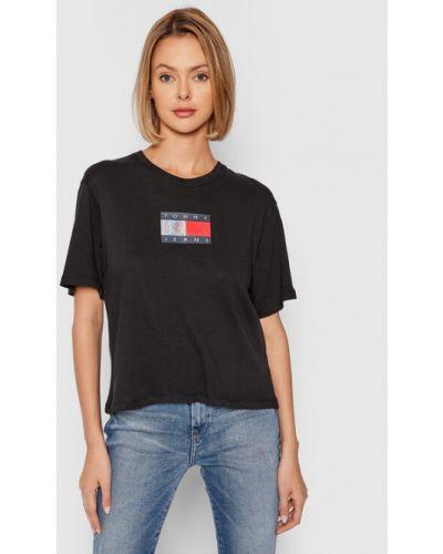T-shirt - czarna Tommy Jeans