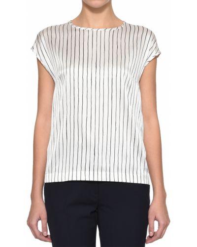 Блузка шелковая белая Peserico