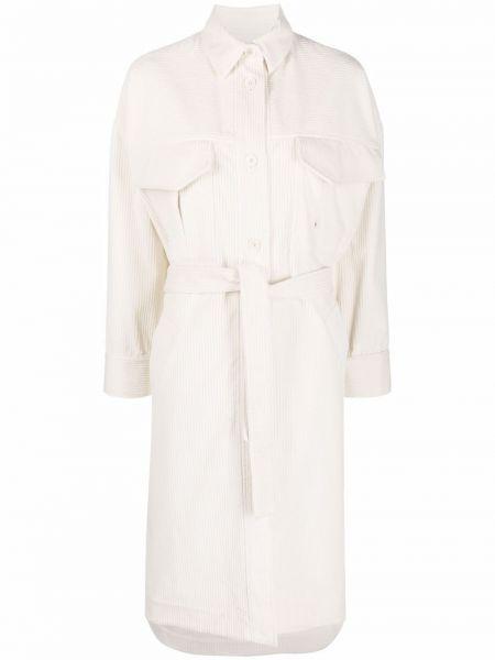 Белое пальто из вискозы Eleventy