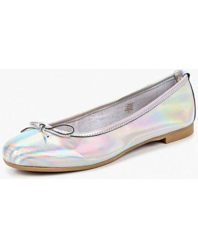 Балетки серебряного цвета Tosca Blu