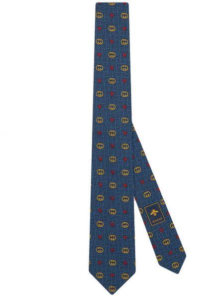 Jedwab krawat z logo Gucci