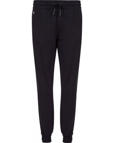 Хлопковые спортивные брюки - черные Guess