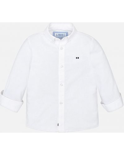 Рубашка белая с узором Mayoral