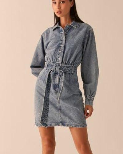 Хлопковое джинсовое платье Love Republic
