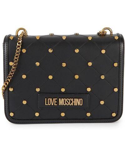 Czarna torba na ramię pikowana Love Moschino