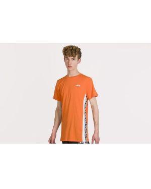 Pomarańczowy t-shirt bawełniany Fila