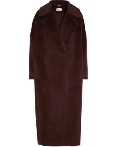 Однобортное кашемировое коричневое пальто Izeta