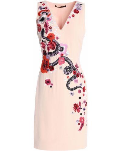 Платье с V-образным вырезом Roberto Cavalli