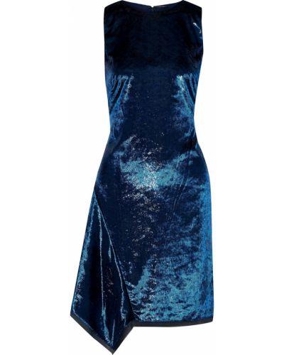 Бархатное платье мини Elie Tahari
