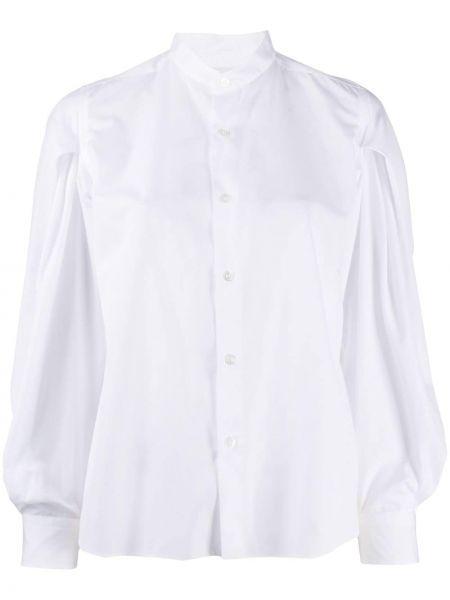 Белая рубашка с воротником с манжетами на пуговицах Comme Des Garçons Noir Kei Ninomiya