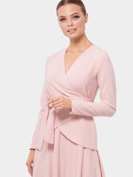 Блузка с длинным рукавом розовая осенняя Vladi Collection