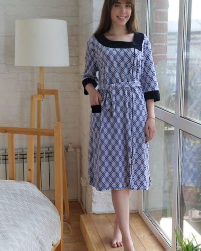 Велюровый домашний халат на молнии Lika Dress