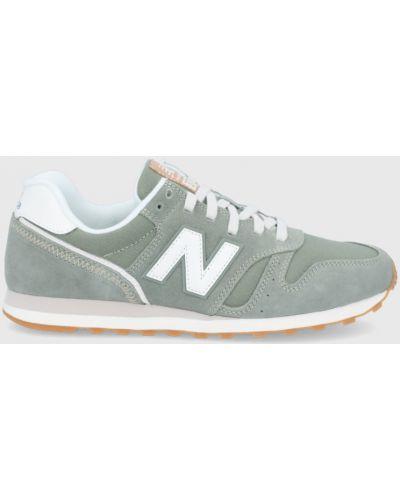 Zielone sneakersy skorzane sznurowane New Balance