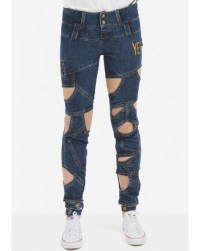 Синие джинсы-скинни узкого кроя Pavel Yerokin