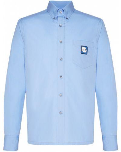 Рубашка с карманами хлопковая Prada