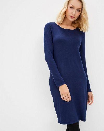 Платье осеннее синее Vis-a-vis