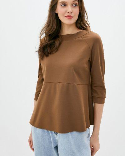 Коричневая блузка с коротким рукавом с короткими рукавами Imperial