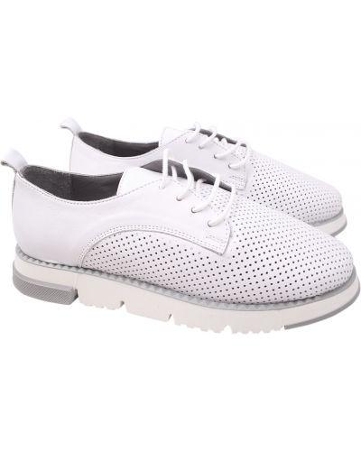 Кожаные туфли - белые Aquamarin