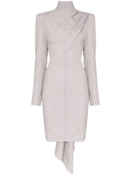 Приталенное драповое платье мини Situationist