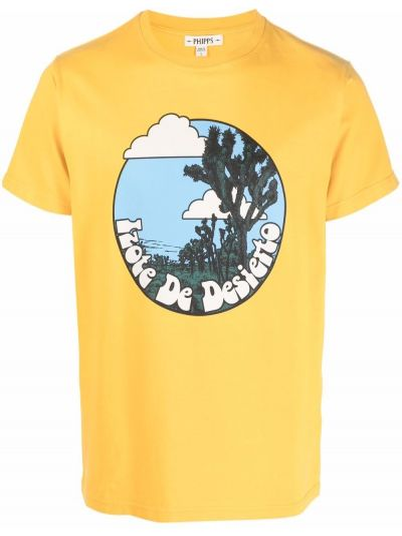 Żółty t-shirt bawełniany krótki rękaw Phipps