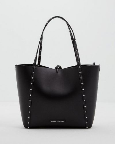 Черная сумка шоппер Armani Exchange