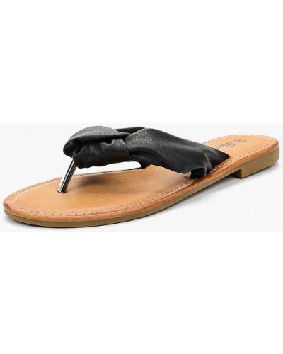 Черное сабо кожаные Renda
