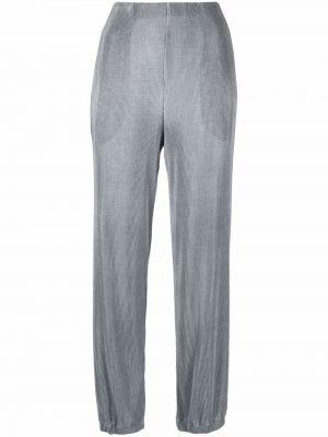Зеленые брюки из полиэстера Giorgio Armani