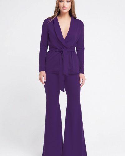 Фиолетовый брючный костюм Malaeva