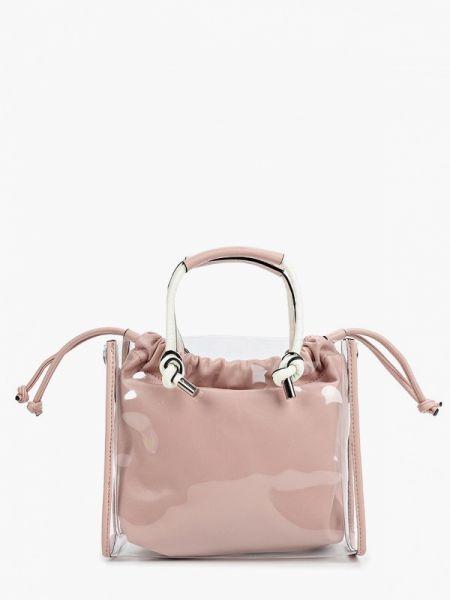 Кожаная сумка с ручками розовый Baggini