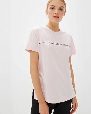 Поло розовый спортивное Calvin Klein Performance