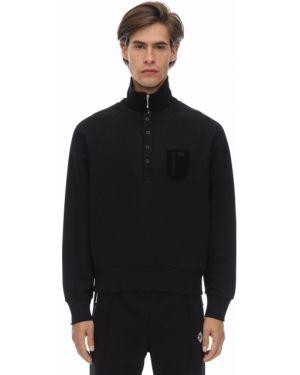 Prążkowana czarna bluza bawełniana Gr Uniforma X Diesel Red Tag
