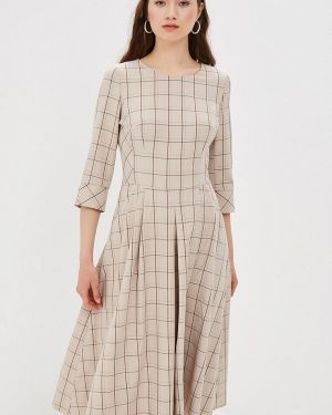 Платье прямое бежевое Dlys