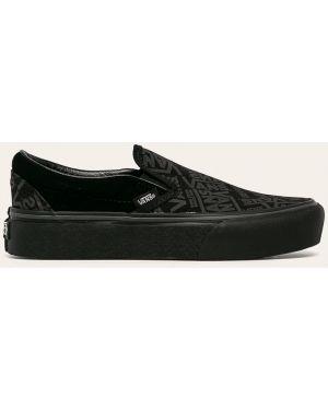 Sneakersy na platformie skórzane zamszowe Vans