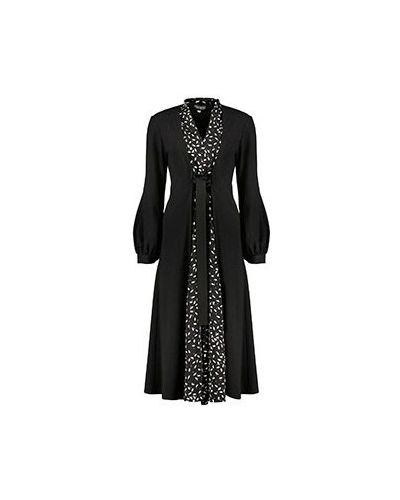 Вечернее платье из вискозы - черное Poustovit