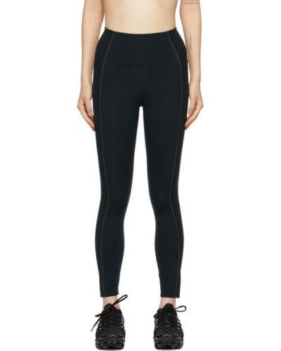 Czarne legginsy z nylonu Lndr