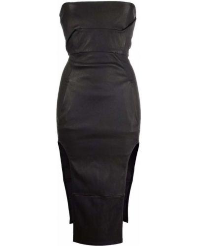 Sukienka skórzana - czarna Rick Owens