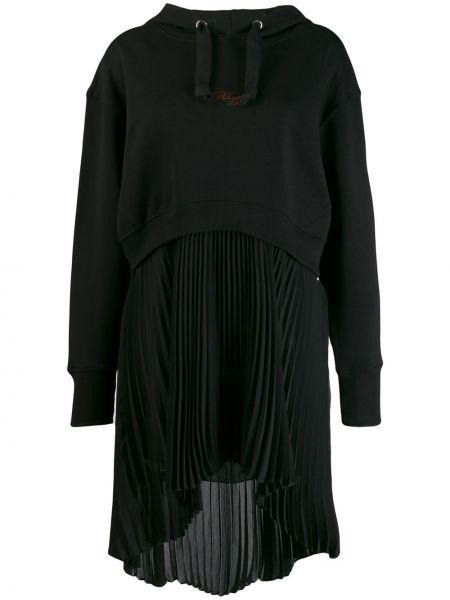 Платье макси с капюшоном плиссированное Philosophy Di Lorenzo Serafini