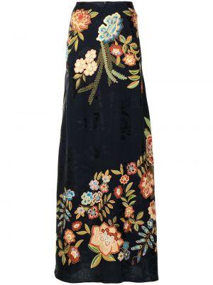 Черная юбка из вискозы Etro