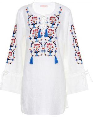 Пляжное платье с вышивкой льняное Tory Burch