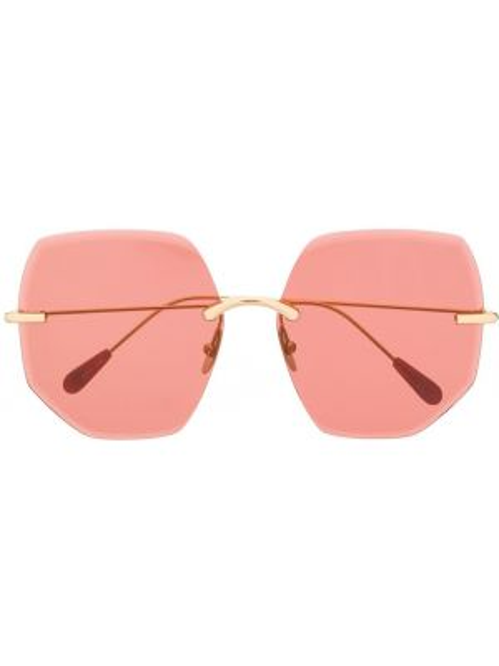 Желтые солнцезащитные очки металлические Kaleos