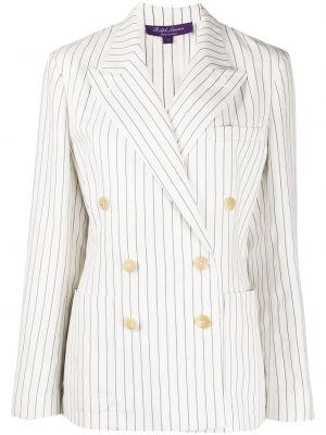 С рукавами белая короткая куртка двубортная Ralph Lauren Collection