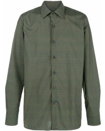 Рубашка с длинным рукавом цветная хлопковая Prada