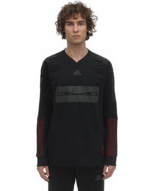 Czarna bluza z siateczką Adidas Football